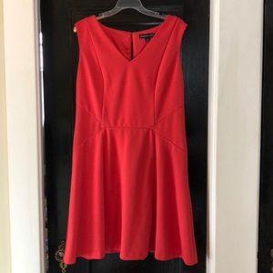 Plus sized coral semi-formal dress